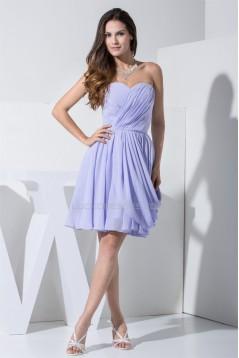 Hot Sale Chiffon Sweetheart A-Line Short Bridesmaid Dresses 02010299