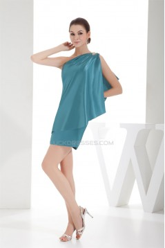 One-Shoulder Sheath/Column Short/Mini Bridesmaid Dresses 02010317