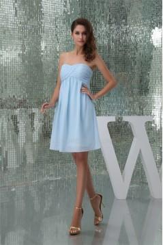 Empire Short/Mini Blue Chiffon Bridesmaid Dresses Maternity Bridesmaid Dresses 02010327