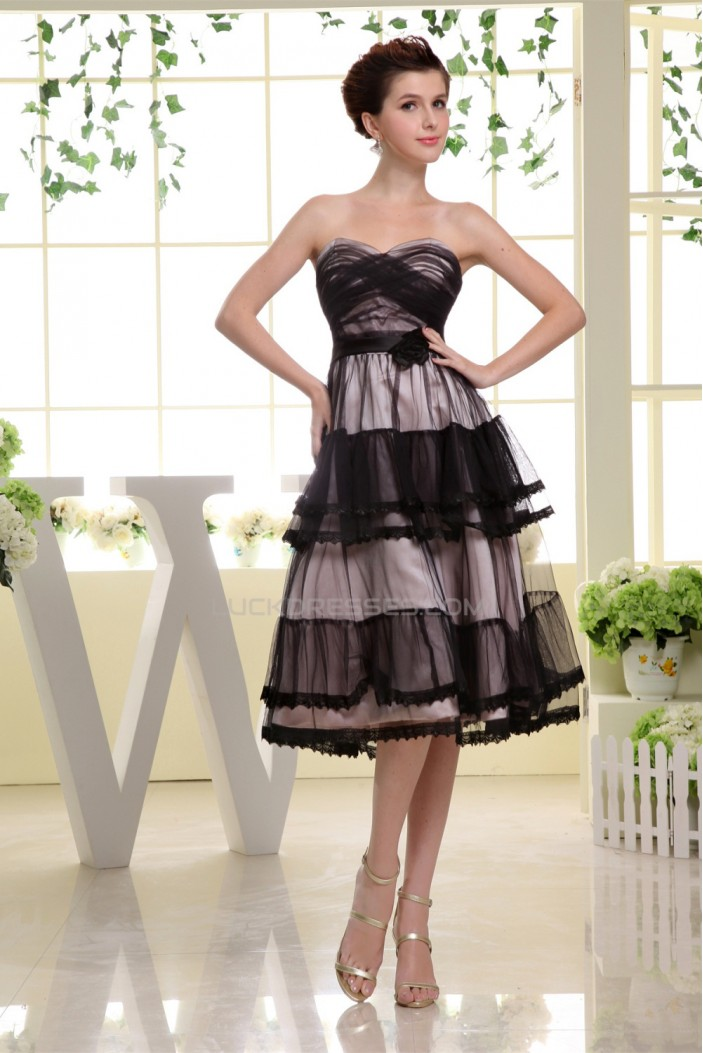 Satin Fine Netting A-Line Sleeveless Sweetheart Bridesmaid Dresses 02010329