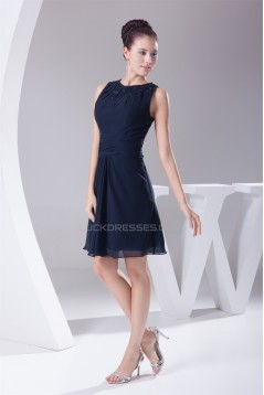 Sheath/Column Beading Short/Mini Sleeveless Bridesmaid Dresses 02010337