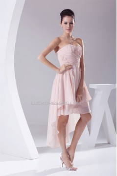 High Low Sweetheart Chiffon Short Bridesmaid Dresses 02010342