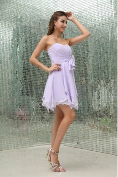 A-Line Short/Mini Sweetheart Chiffon Bridesmaid Dresses 02010344