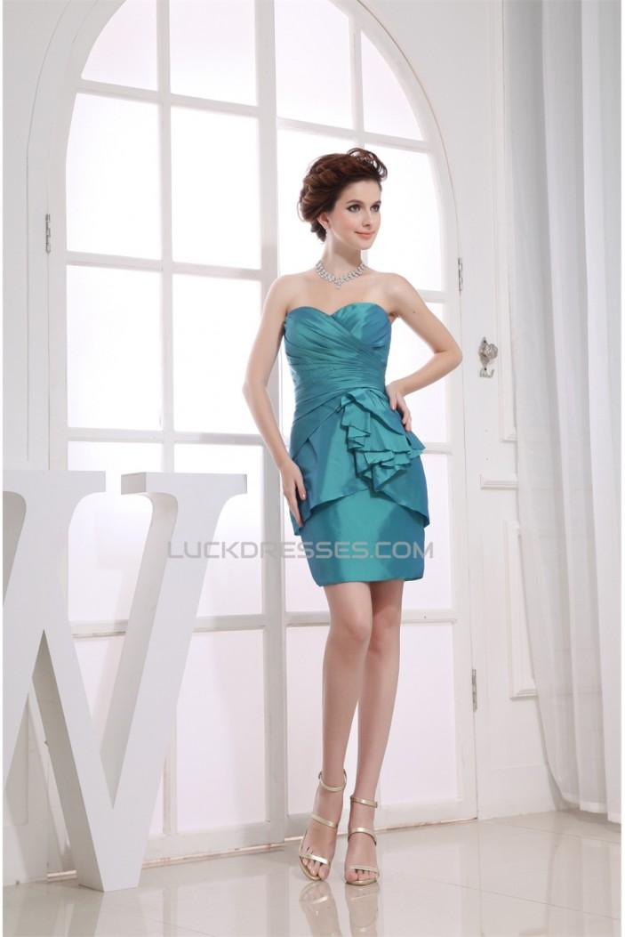 Short/Mini Criss Cross Sweetheart Sheath/Column Bridesmaid Dresses 02010346