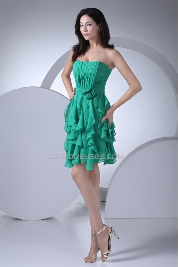 Short/Mini Sheath/Column Pleats Chiffon Bridesmaid Dresses 02010354