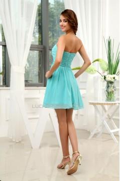 Short/Mini Sleeveless Chiffon Bridesmaid Dresses 02010355