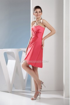 Sleeveless Pleats Sheath/Column Sweetheart Bridesmaid Dresses 02010366