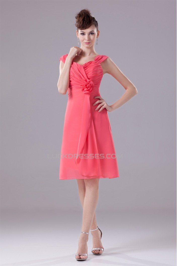 Sweetheart Chiffon Knee-Length Short Bridesmaid Dresses 02010380