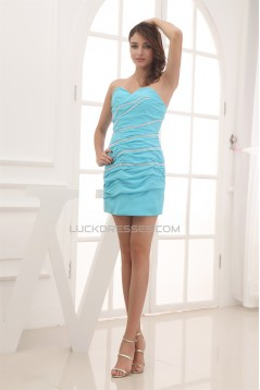 Sweetheart Sheath/Column Beading Short/Mini Bridesmaid Dresses 02010382