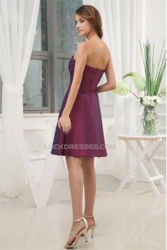A-Line Taffeta Sleeveless Beading Sweetheart Short Bridesmaid Dresses 02010384