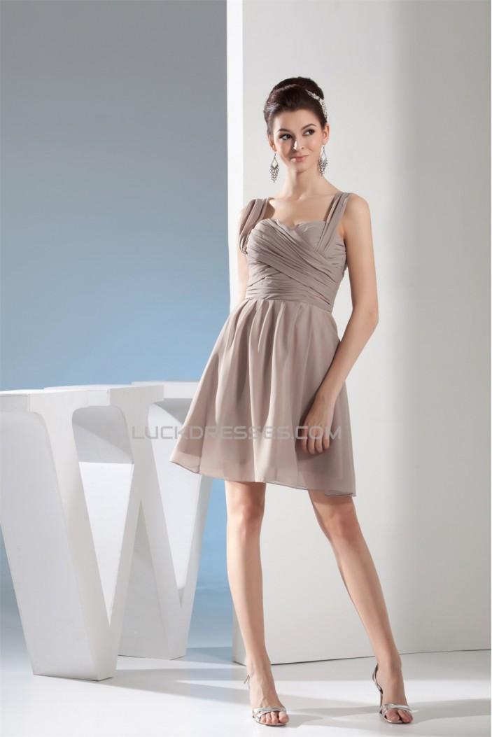 A-Line Criss Cross Sweetheart Sleeveless Short Chiffon Bridesmaid Dresses 02010396
