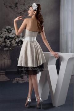 A-Line Fine Netting Flocked Cloth Bows Bridesmaid Dresses 02010400