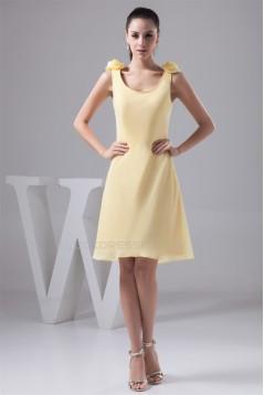 A-Line Handmade Flowers Chiffon Bridesmaid Dresses 02010406