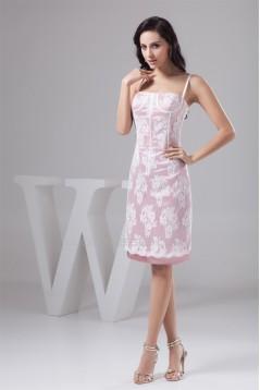 Sleeveless Knee-Length Spaghetti Straps Short Bridesmaid Dresses 02010437