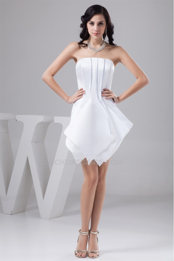 Strapless Sheath/Column Sleeveless Short/Mini Bridesmaid Dresses 02010443
