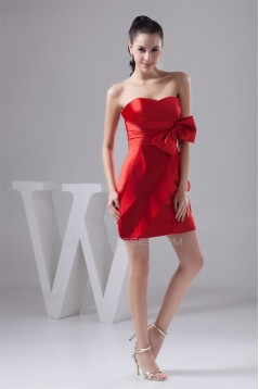 Sweetheart Short/Mini Red Bridesmaid Dresses 02010445