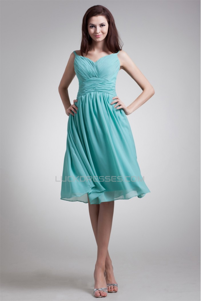 Amazing Pleats Spaghetti Straps Sleeveless A-Line Bridesmaid Dresses 02010460