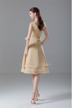 Amazing V-Neck Knee-Length Sash Ribbons A-Line Short Bridesmaid Dresses 02010461