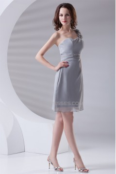 A-Line Short/Mini Chiffon Short Bridesmaid Dresses 02010470