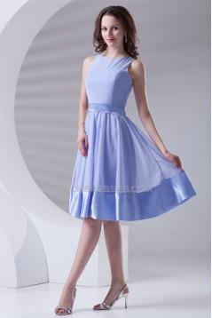 A-Line Chiffon Elastic Knee-Length Short Bridesmaid Dresses 02010478