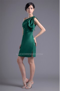 Elastic Woven Satin Short/Mini Sleeveless Short Bridesmaid Dresses 02010479