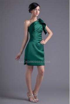 Elastic Woven Satin Short/Mini Sleeveless Short Bridesmaid Dresses 02010479