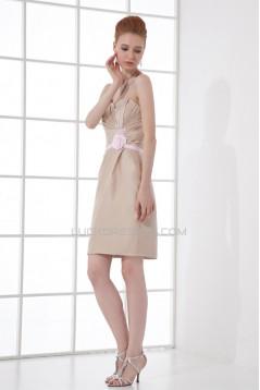 Sheath/Column Short/Mini Sweetheart Satin Bridesmaid Dresses 22450 78774 02010516