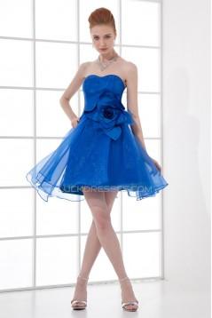 Short/Mini Sleeveless Satin Organza Soft Bridesmaid Dresses 02010522