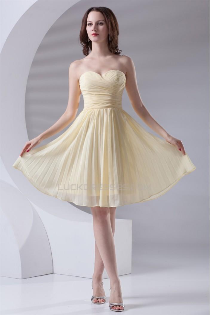 A-Line Sweetheart Knee-Length Short Chiffon Bridesmaid Dresses 02010524