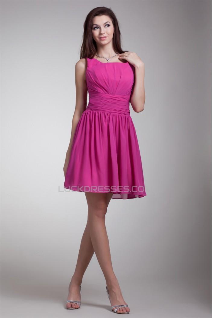 Sleeveless Short/Mini A-Line Chiffon Bridesmaid Dresses 02010531