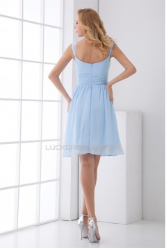 Square Short/Mini Sleeveless Ruffles A-Line Bridesmaid Dresses 02010536
