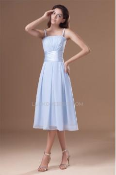 Tea Length Sleeveless A-Line Chiffon Bridesmaid Dresses 02010546