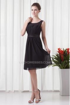 Short Black Chiffon Bridesmaid Dresses 02010550