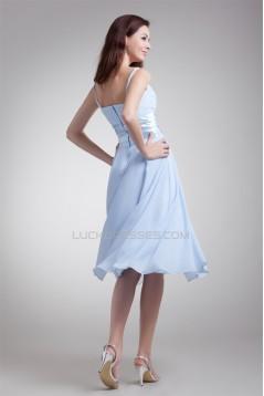 Wonderful Pleats A-Line Chiffon Short Bridesmaid Dresses 02010553