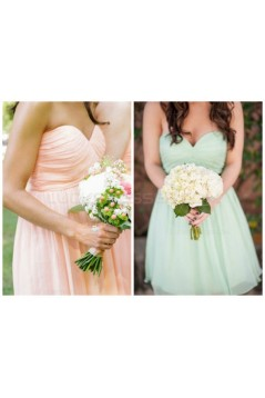 Short Tulle Sweetheart Bridesmaid Dresses 3010012