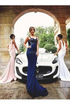Trumpet/Mermaid Straps Sleeveless Sequins Chiffon Long Bridesmaid Dresses 3010022