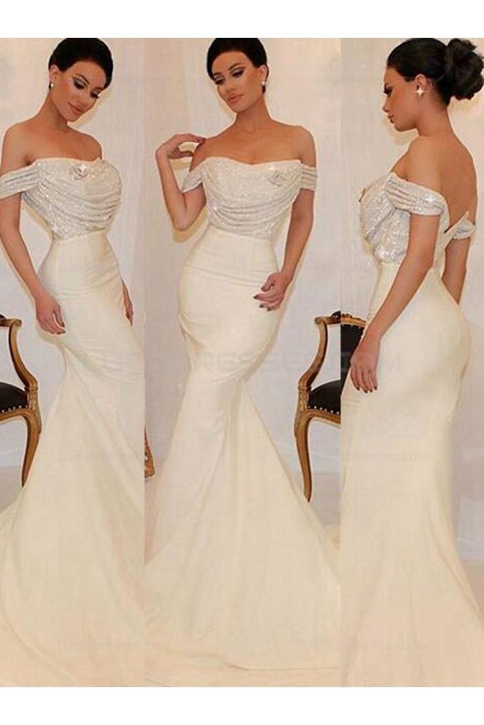 Long Off-the-Shoulder Sequins Wedding Party Dresses Bridesmaid Dresses 3010032