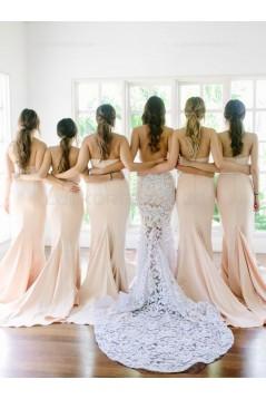 Trumpet/Mermaid Sweetheart Long Wedding Party Dresses Bridesmaid Dresses 3010037