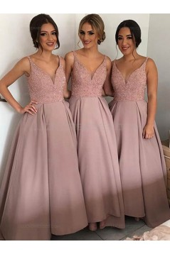 A-Line Straps Sleeveless Wedding Party Dresses Bridesmaid Dresses 3010045