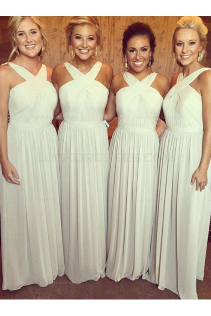 Long Chiffon Floor-Length Wedding Party Dresses Bridesmaid Dresses 3010057