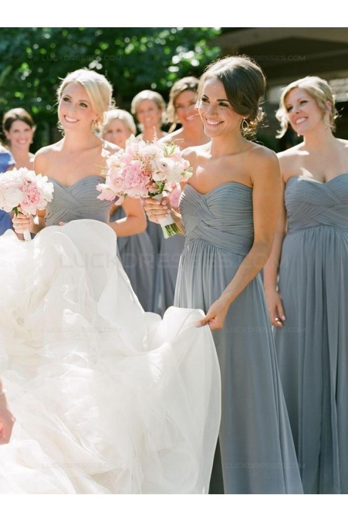 Sweetheart Chiffon Floor-Length Wedding Party Dresses Bridesmaid Dresses 3010078