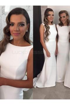 Trumpet/Mermaid Sleeveless Long Wedding Party Dresses Bridesmaid Dresses 3010082