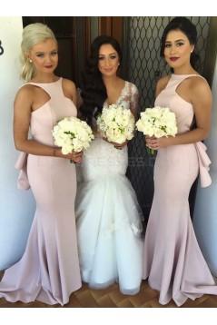 Trumpet/Mermaid Long Backless Wedding Party Dresses Bridesmaid Dresses 3010085