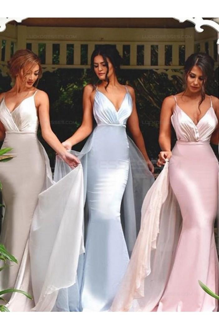 Trumpet/Mermaid Long Wedding Party Dresses Bridesmaid Dresses 3010088