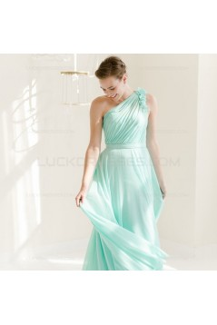 Mint Green Chiffon Long Wedding Guest Dresses Bridesmaid Dresses 3010099