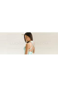 Mint Green Chiffon Long Wedding Guest Dresses Bridesmaid Dresses 3010099