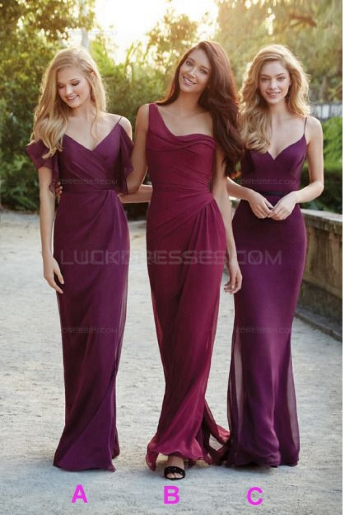 Long Purple Wedding Guest Dresses Bridesmaid Dresses 3010102