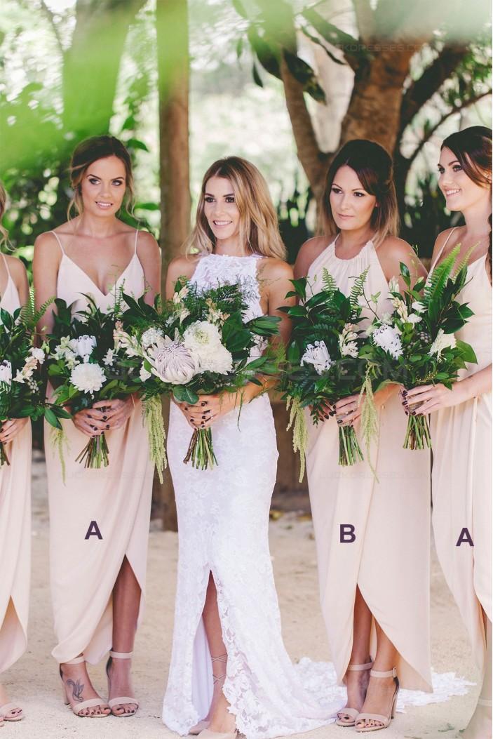 New Arrival Chiffon Spaghetti Straps Wedding Guest Dresses Bridesmaid Dresses 3010103