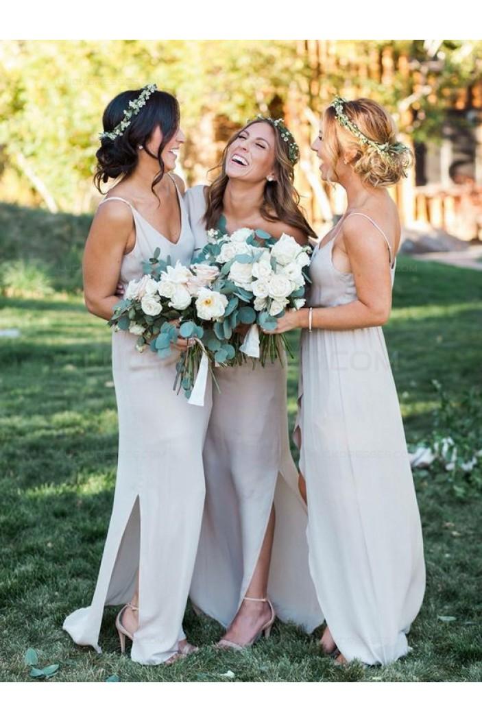 Spaghetti Straps Chiffon Wedding Guest Dresses Bridesmaid Dresses 3010104