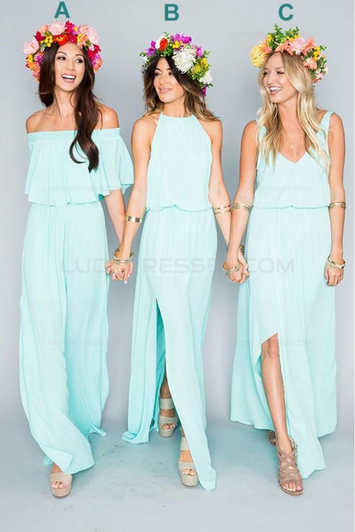 Long Chiffon Wedding Guest Dresses Bridesmaid Dresses 3010112